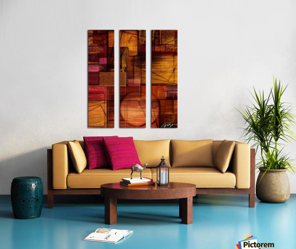 ABSTRACT-1512 Integration Split Canvas print