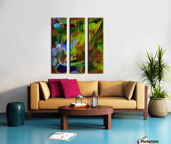 ABSTRACT-1007 SPATIAL Split Canvas print