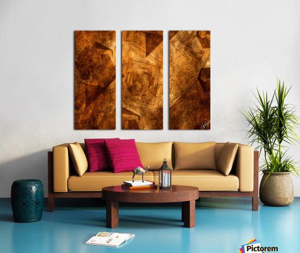ABSTRACT-1008 Sociability Split Canvas print