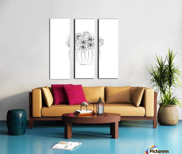 Flower bouquet  Split Canvas print