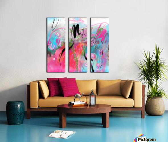 Summer Resort Abstract  Split Canvas print