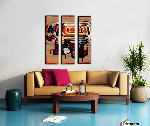 ABSTRACTO-2002 Drainage Split Canvas print