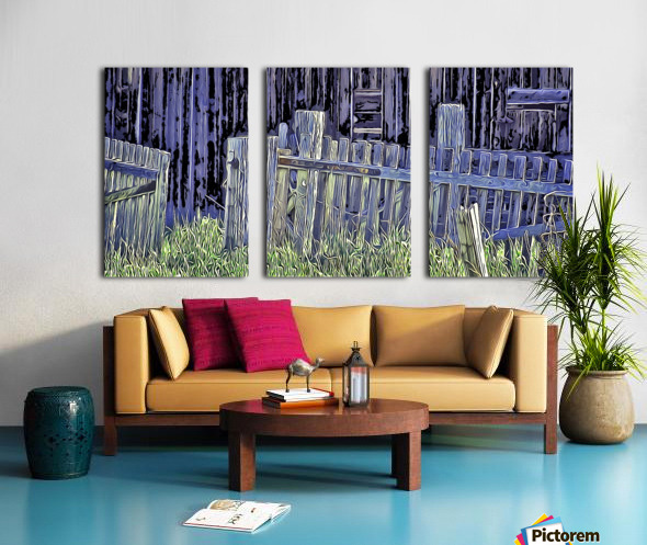 Forsaken Barnyard Split Canvas print