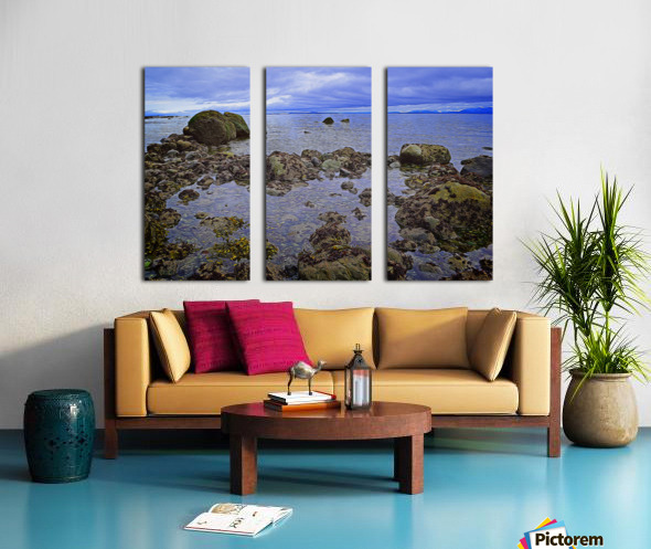 Tranquility at Low Tide Split Canvas print