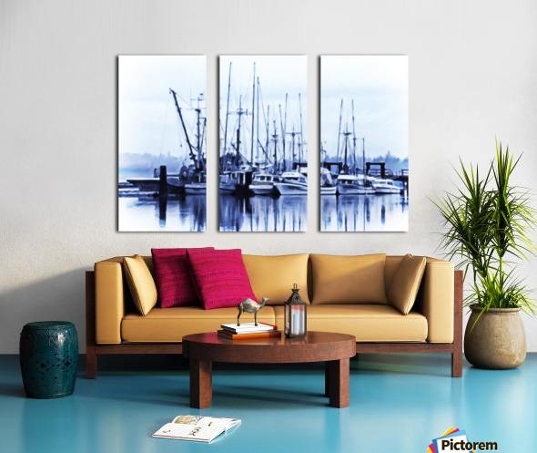 Fishers Wharf Split Canvas print