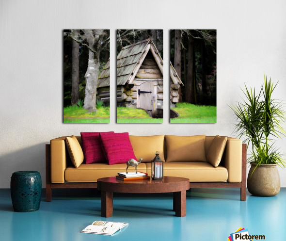 Old Root House Split Canvas print