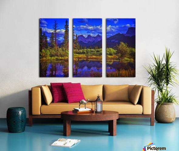 Three Sisters Peaks Split Canvas print