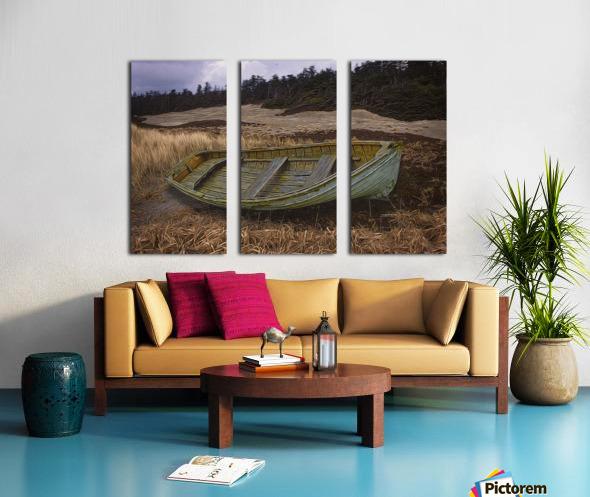 Clinker-built Rowboat Split Canvas print