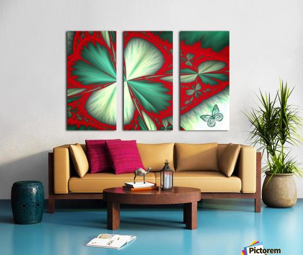 Shamrock and Butterfly Split Canvas print