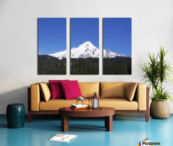 Blue Skies over Mount Hood Split Canvas print