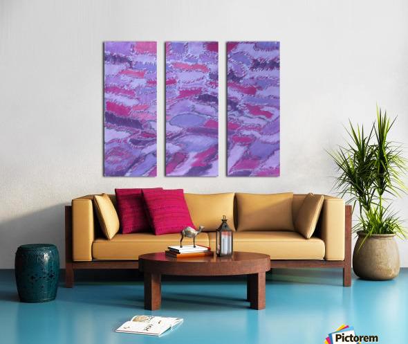 shades of purple Split Canvas print
