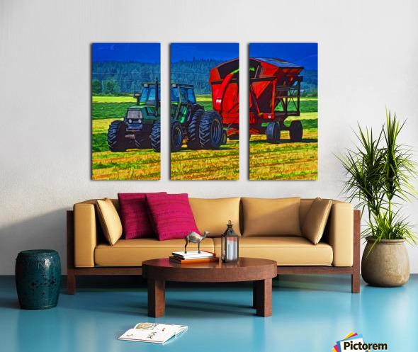 Making Hay Split Canvas print
