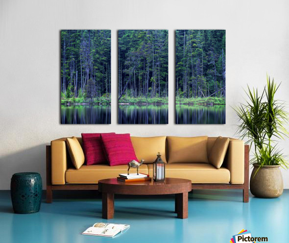 Forest by the Lake Split Canvas print