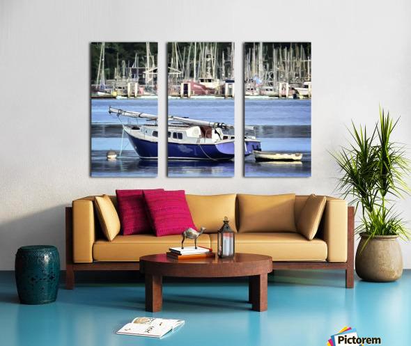 Resting in the Harbor Split Canvas print
