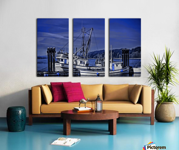 Fishing Boats at the Dock Split Canvas print