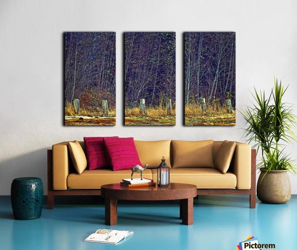 Weathered Fence Posts Split Canvas print