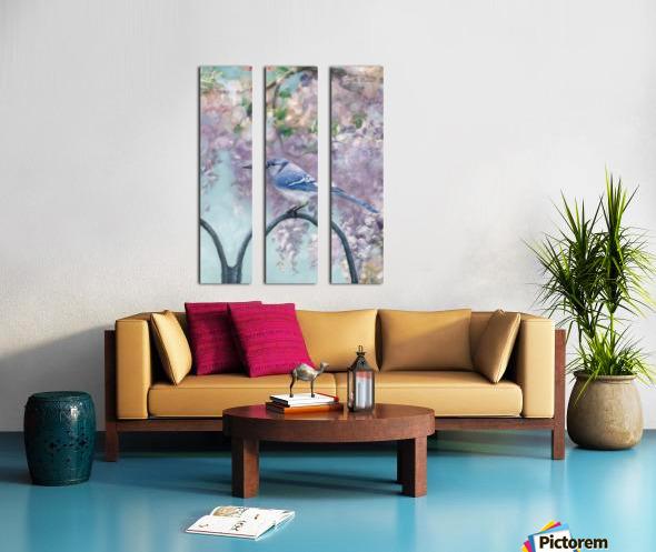 Garden bird Split Canvas print
