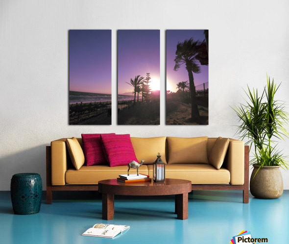 Sunset   Costa Del Sol   Andalusia Spain Split Canvas print