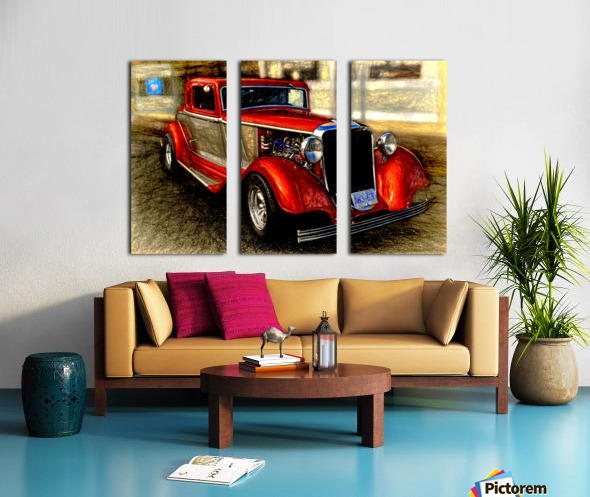 1933 Dodge Coupe Split Canvas print