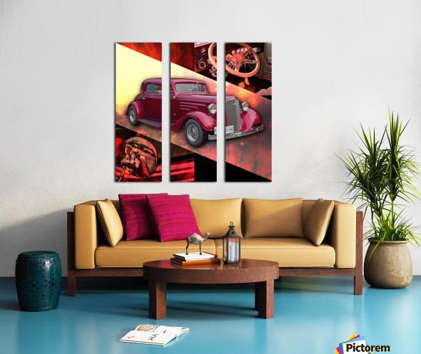1935 Chevrolet 5-Window Coupe Split Canvas print