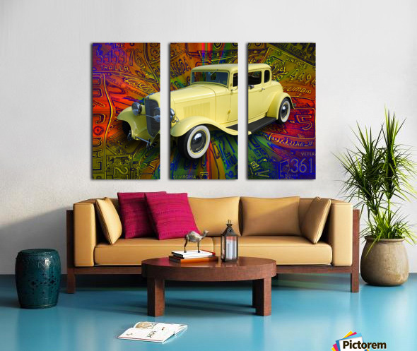 1932 Ford Coupe Split Canvas print