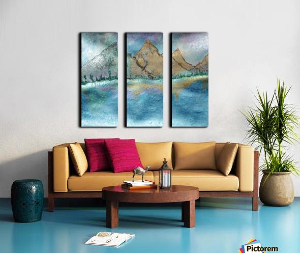 Mountains Split Canvas print
