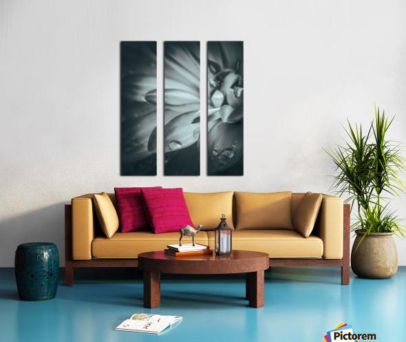 Flowerful Study In A Monochromatic Vibe Split Canvas print