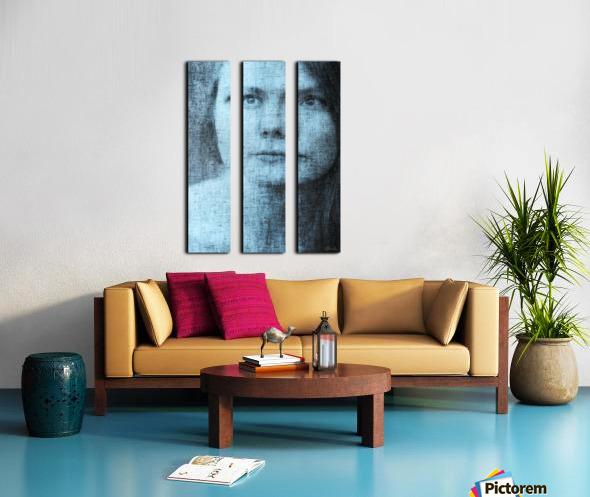 Un regard bleu - A Blue Gaze Split Canvas print