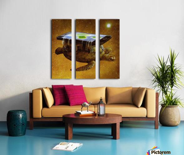 flat world Split Canvas print