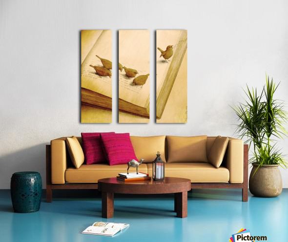 audiobook Split Canvas print