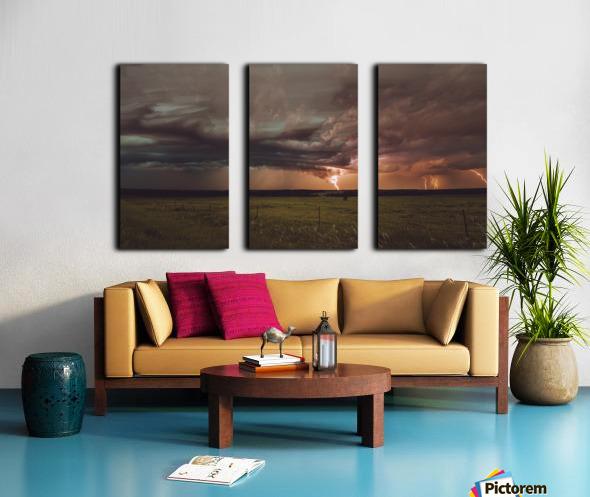 Lightning On The Prairies Split Canvas print