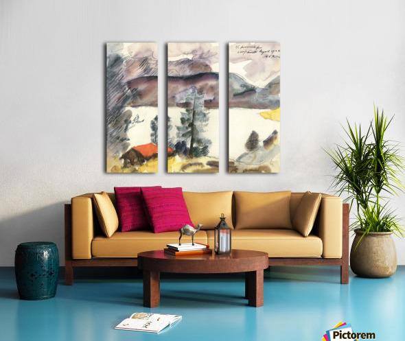 Walchensee -7- by Lovis Corinth Split Canvas print