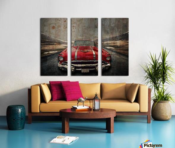 1956 Pontiac Strato-Streak Split Canvas print