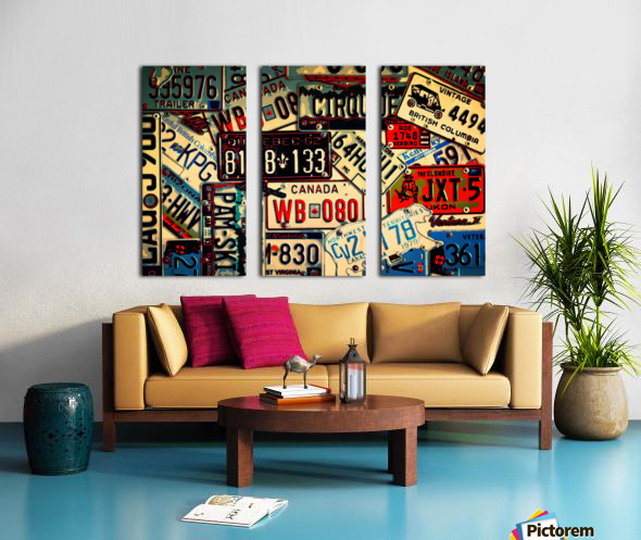 Plates Galore Split Canvas print