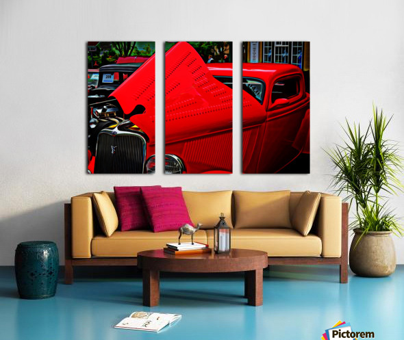 1933 Ford Window Coupe Split Canvas print