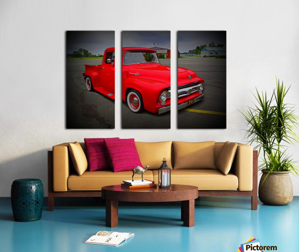 1953 Ford Pickup Split Canvas print