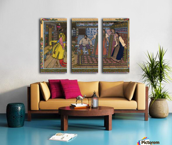 Fantasy Poster 5 Split Canvas print
