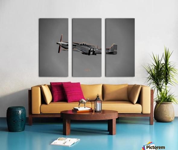 P-51 Orange Super Limited Edition 10 Prints only Split Canvas print