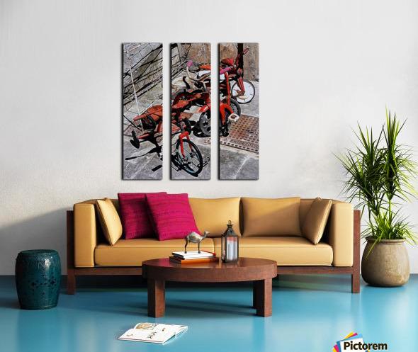Italian Toy Antique Tricycles Split Canvas print