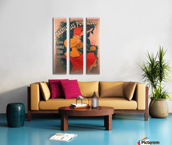 Original 1896 Lithograph Poster Pastilles Poncelet Split Canvas print