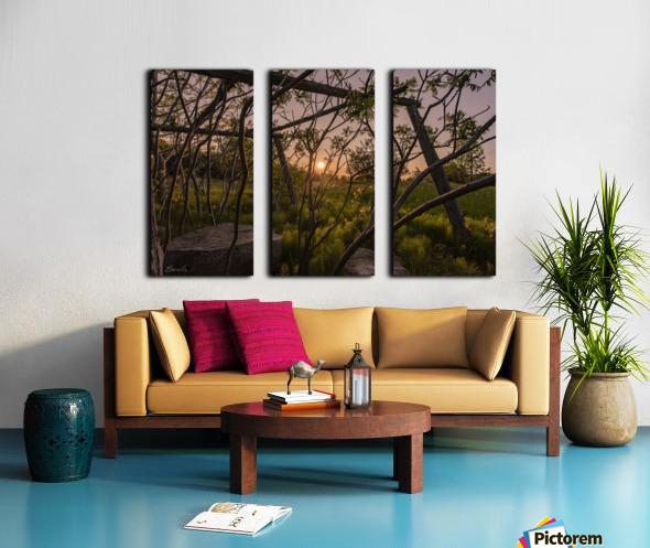 Un lieu pour mediter - A place to meditate Split Canvas print
