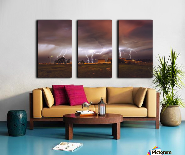 Light em Up  Split Canvas print