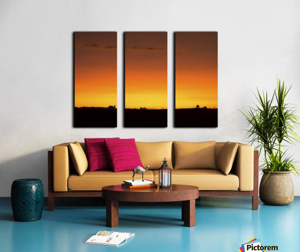 Strong Colours at the End of a Day Split Canvas print