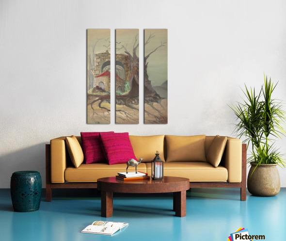 RA 035 - בית קטן בערבה Split Canvas print