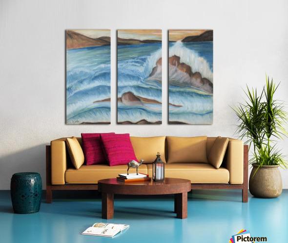 RA 002 - גל מתנפץ - crashing wave Split Canvas print