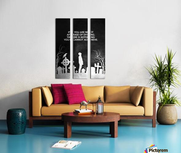 Laugh at Death Motivational Wall Art Split Canvas print