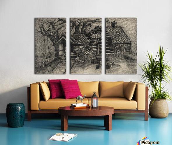 RA 013 - בית בכפר -  house in the village Split Canvas print