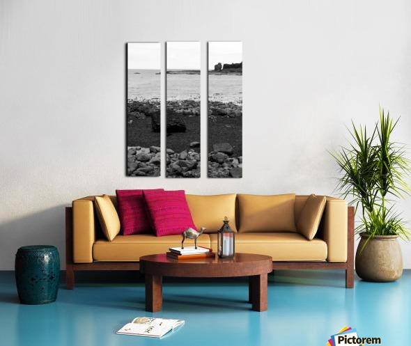 Sea and Rocks Split Canvas print