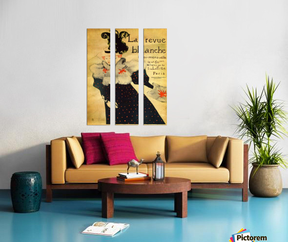 La reveu blanche by Toulouse-Lautrec Split Canvas print