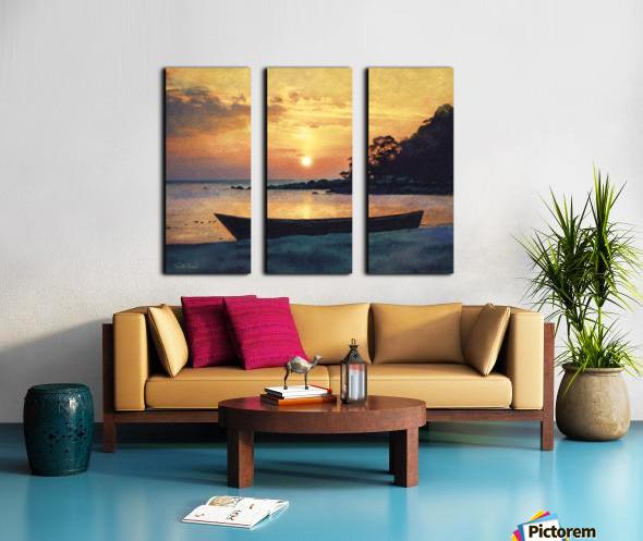 If I had a boat Split Canvas print